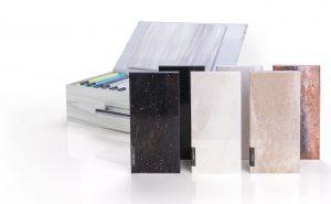muestras de material solid surface