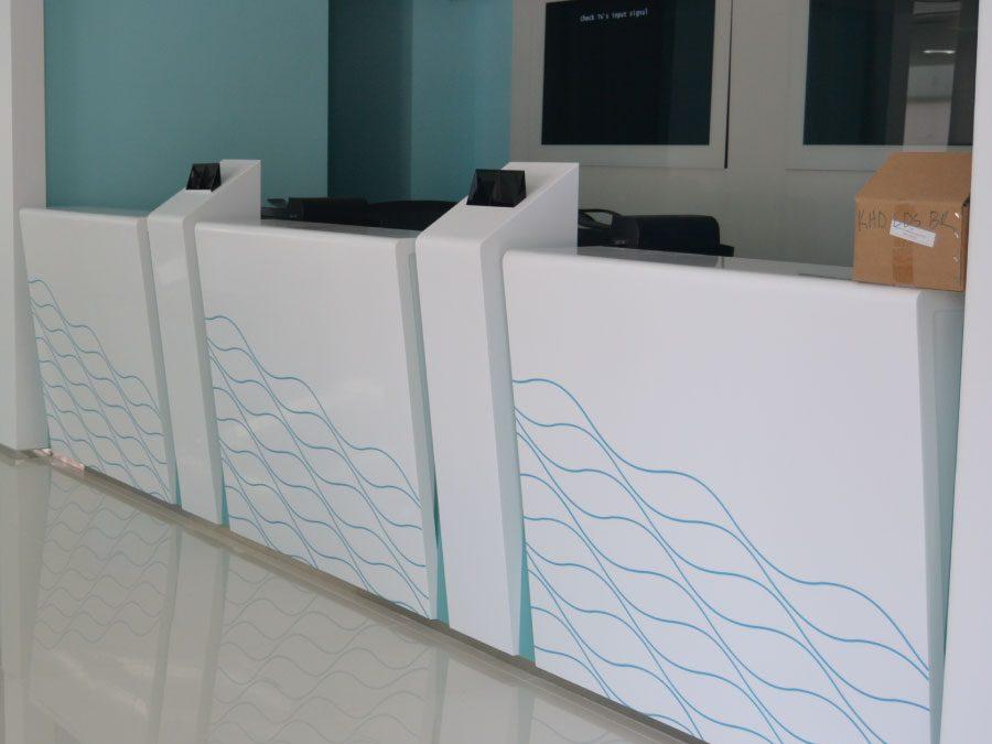 Aplicaciones de Solid Surface para hospitales y centros médicos
